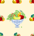 Seamless texture fruit faience bowl healthy food vector image vector image