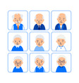 set avatars happy old people icons of heads of vector image vector image