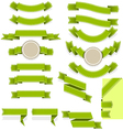 set empty ribbons and banners different vector image vector image