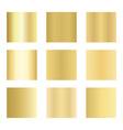 set gold gradients golden backgrounds vector image