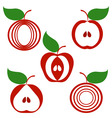 set of apples vector image vector image