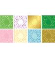 set of floral decorative cards - frames vector image vector image