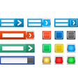 set of log in button vector image vector image