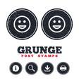 smile icon happy face symbol vector image