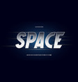 space font silver style vector image vector image