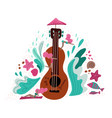 summer holiday music metaphor flat vector image vector image