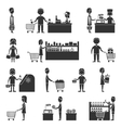 Supermarket People Set vector image