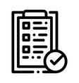 tablet clip with approved check list icon vector image