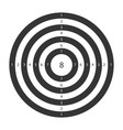 target for shooting board with circles and numbers vector image vector image
