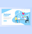 technical support online web page operators aid vector image