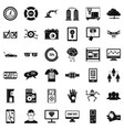 touching icons set simple style vector image vector image