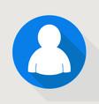user blue icon vector image