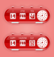 Valentine day with flap clocks and number counter vector image vector image