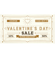 Valentines Day Sale Retro Background vector image vector image