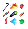 Weapon and Bomb Icons Set vector image vector image