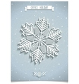 White 3D office snowflake vector image
