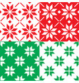 winter nordic snowflakes pattern christmas vector image