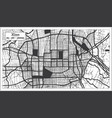 xian china city map in black and white color in vector image vector image