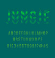 striped jungle modern font vector image
