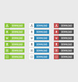 download buttons set vector image