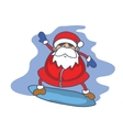 Character Santa Claus surfing collection Christmas vector image