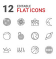 12 sphere icons vector image vector image