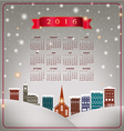 A 2016 quaint Christmas village calendar vector image vector image