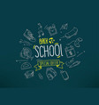 back to school special offer banner with doodle vector image