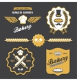 bakery bread vintage retro badges labels logo vector image
