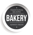 Bakery vintage black stamp sticker vector image vector image