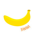 banana isolated vector image