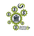 banking and finance conceptual logo unique vector image vector image