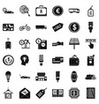 business economy icons set simple style vector image vector image