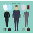 Business man clothes vector image