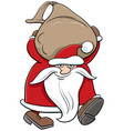 cartoon santa claus christmas character carrying vector image vector image