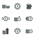 Coins Icons Set Design vector image vector image
