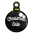 Color vintage Christmas sale emblem vector image