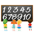 counting number with boys and girls vector image