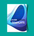 cover design template10 vector image vector image