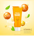 creame tube moisturizing cosmetic products ad vector image