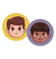 cute children cartoon vector image vector image