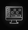 daw silver outline icon - audio workstation vector image