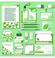 design template for business objects vector image vector image