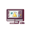 digital designer monitor icon vector image vector image