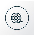 film reel icon line symbol premium quality vector image