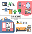 flat home interior template vector image
