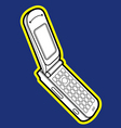 flip mobile phone vector image