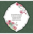Floral card invitation vector image vector image
