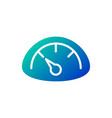 gauge or speedometer line icon data and analytics