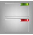 Glass Frame Set vector image vector image